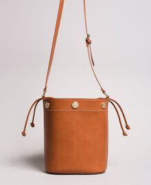 Faux leather bucket bag Leather Brown Woman 191TO8111-04