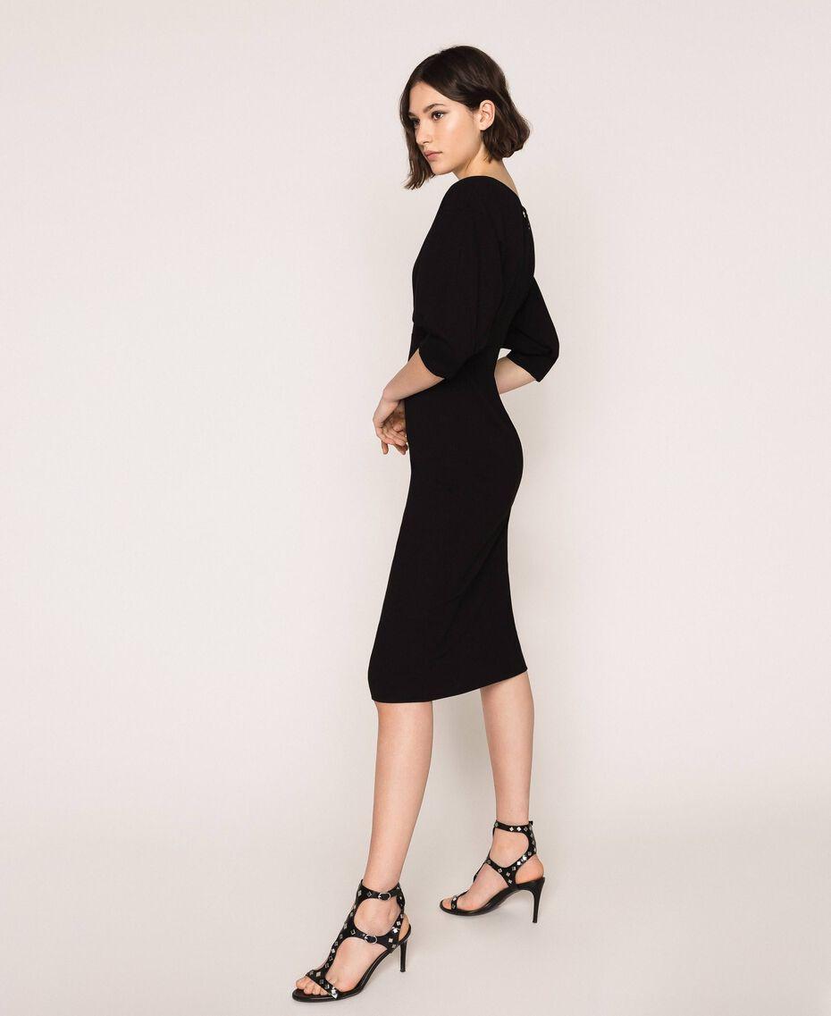 Robe fourreau avec manches 3/4 Noir Femme 201ST2054-01