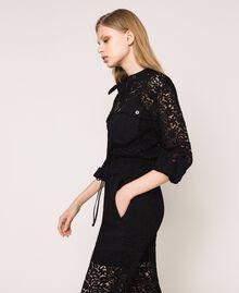 Macramé lace jumpsuit Ivory Woman 201TP2195-03
