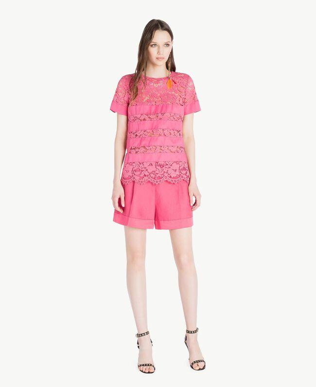 T-shirt dentelle Pink Provocateur Femme TS828Q-05