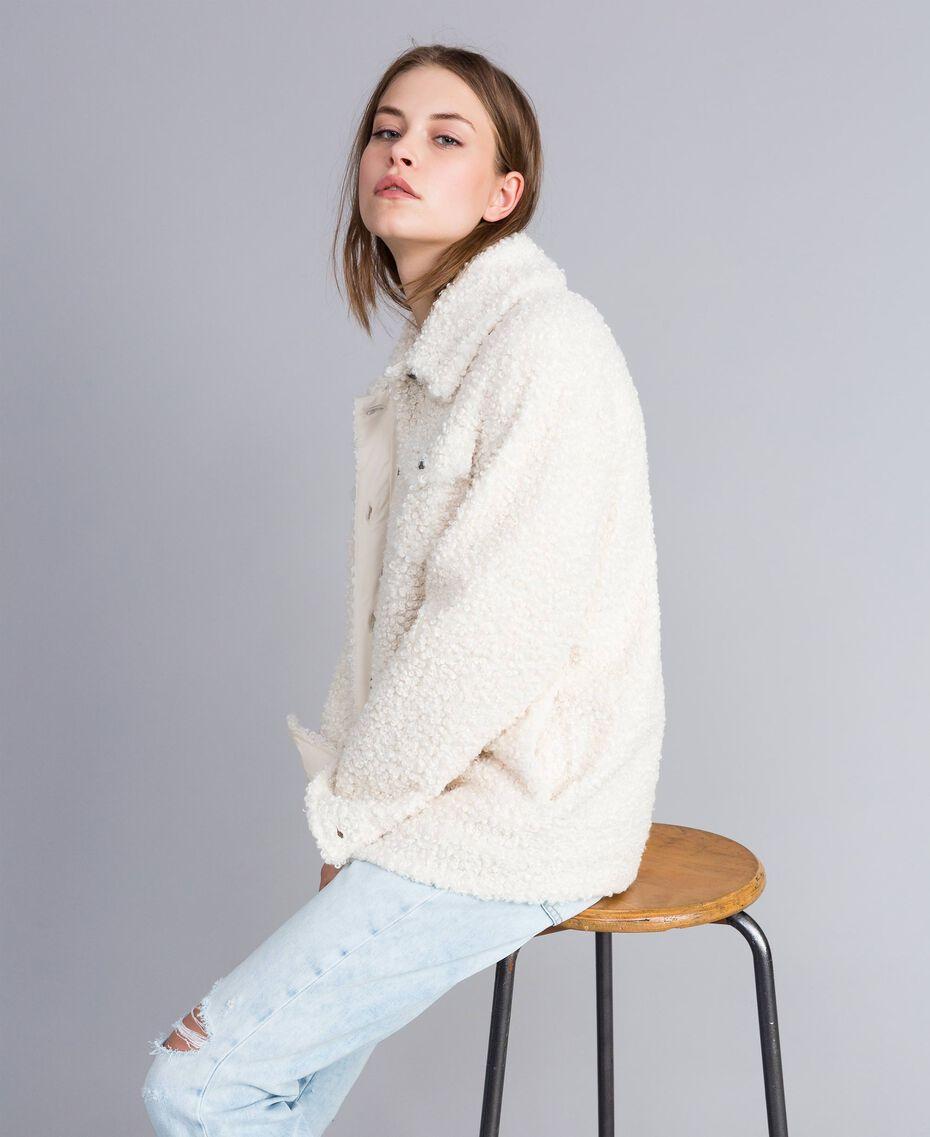 Куртка-кабан из искусственной кожи ягненка Перламутр женщина JA82KG-02