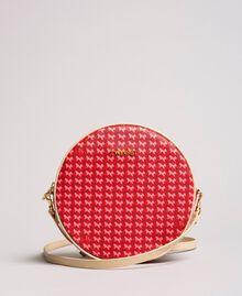 "Butterfly print shoulder bag ""Ruby"" Red Butterflies Print Woman 191TA7175-01"