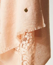 """Stole with lace inlay """"Nude"""" Beige Woman 202TA4405-02"""