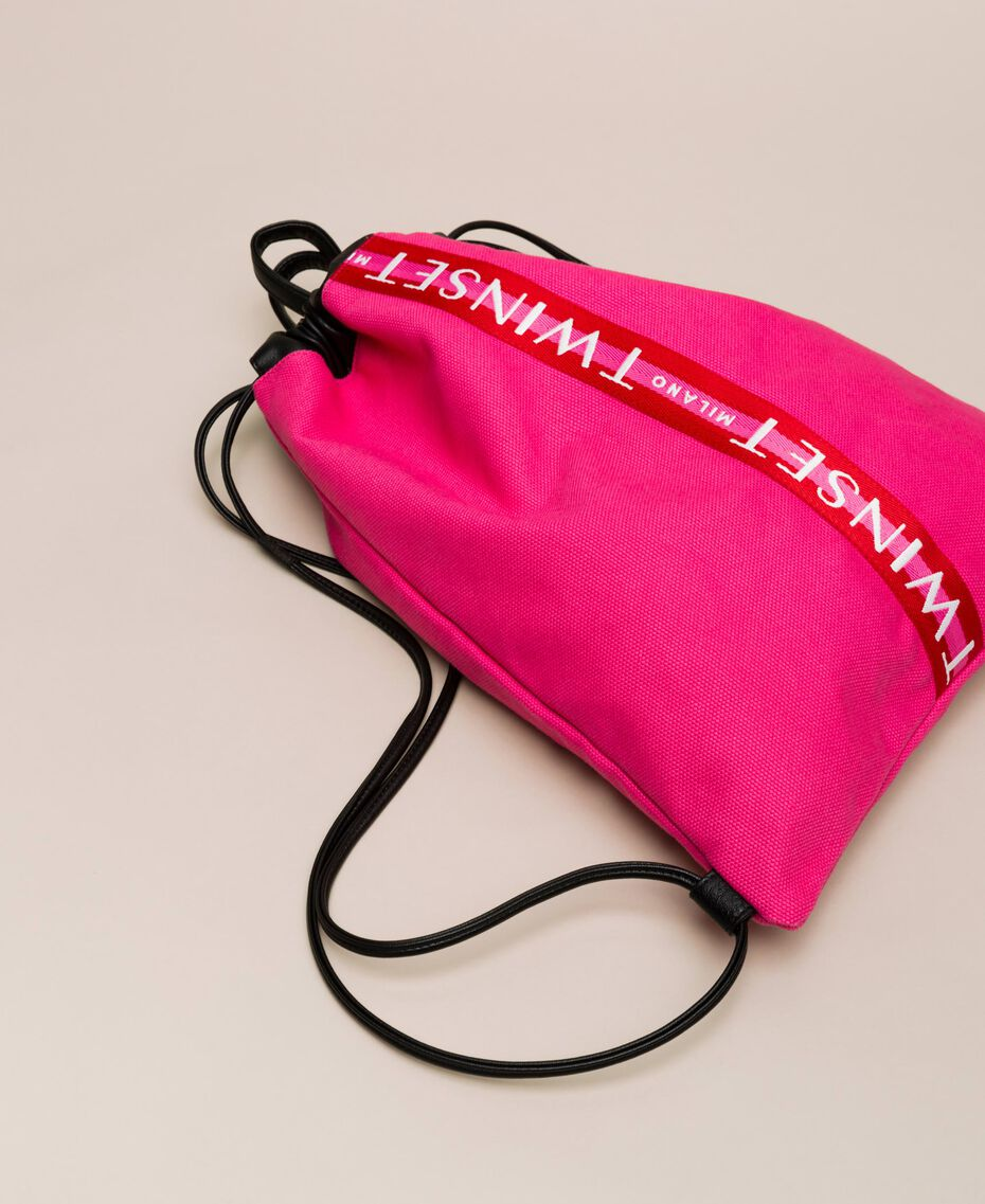 """Canvas sackpack with logo """"Jazz"""" Pink Woman 201TO8101-01"""