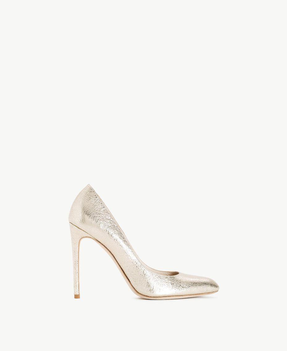 TWINSET Laminated court shoes Platinum Woman CS8PLC-01