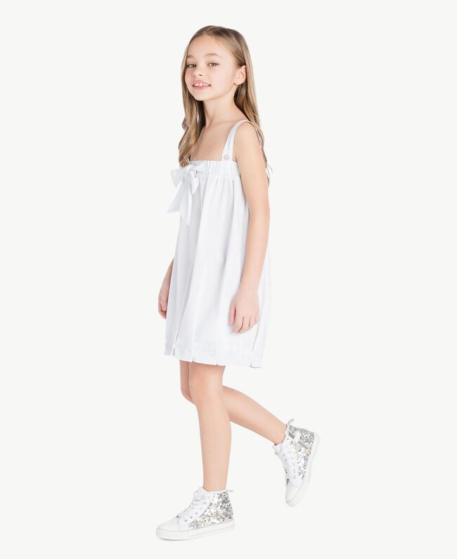Sequin sneakers Silver Child HS88GA-05