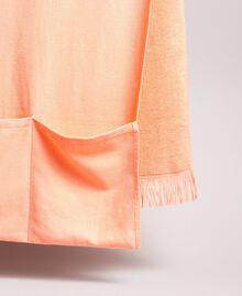 "Terrycloth beach towel with logo ""Tangerine Cream"" Pink Woman 191LB4ZFF-02"