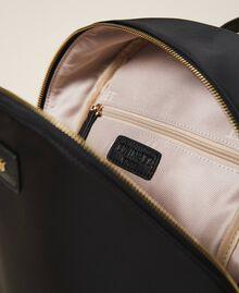 Twinset Bag im Rucksackformat aus Satin Schwarz Frau 202TB7201-05