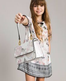 Faux leather floral print shoulder bag Ramage Butterfly Print Child 191GJ799E-0S