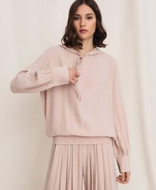 Georgette hoodie Moonlight Beige Woman 201LL2NFF-03