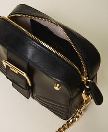 Small Rebel shoulder camera bag Leather Brown Woman 202TB723R-05