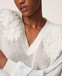 Jersey de mohair con bordado Blanco Nata Mujer 202TP3260-05