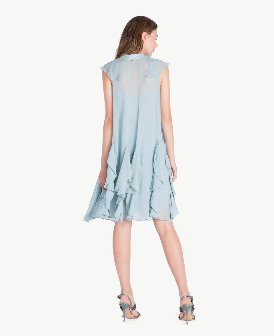 Kleid mit Rüschen Blau pulver QA7PAC-03