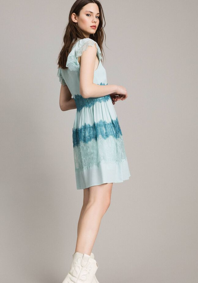 Georgette and lace dress