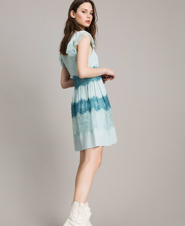 the best attitude baaa4 517ad Abito in pizzo e georgette Donna, Blu | TWINSET Milano