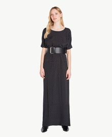 Polka dot dress Black Polka Dot Print / Ivory Woman PS8283-01