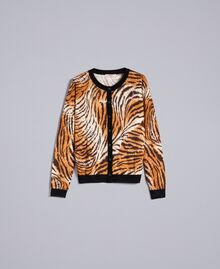Gilet en laine imprimée Imprimé Tigre Uni Femme TA83DU-0S