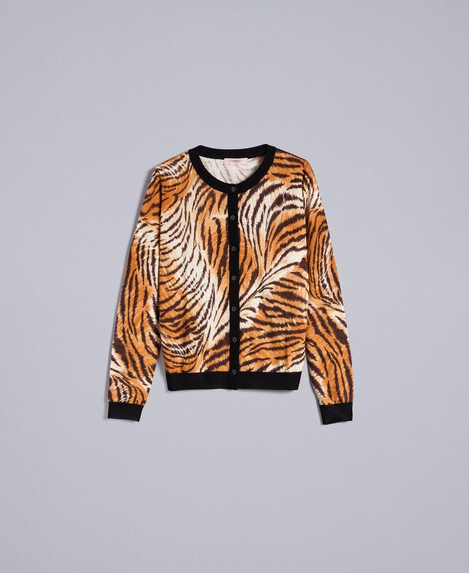 Coreana in lana stampata Stampa Tigre Plain Donna TA83DU-0S