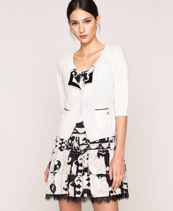Linen blend cardigan