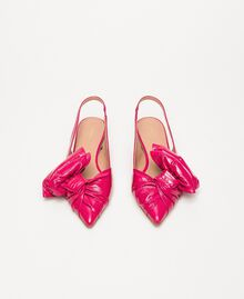 Patent leather ballerina pumps with bow Black Cherry Woman 201TCP110-05