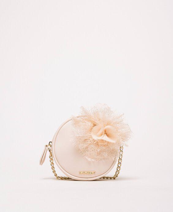 Round floral shoulder bag