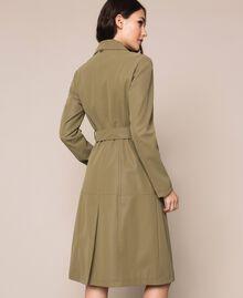 """Тренч из искусственной кожи """"Olive"""" Зелёный женщина 201LL2PBB-04"""