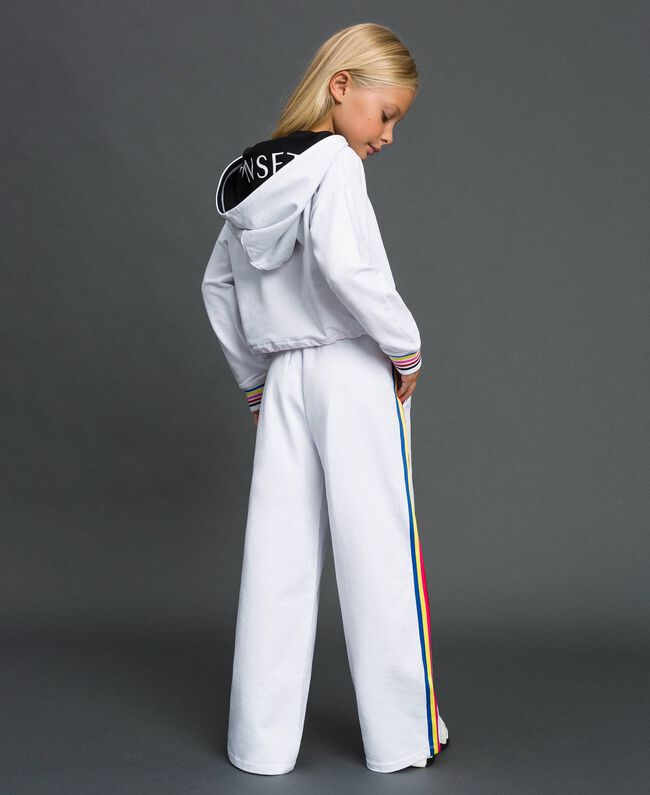 """Hoodie and trousers """"Papers"""" White Child 999GJ2013-04"""