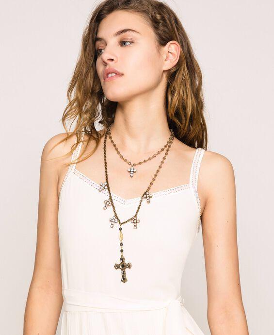Ожерелье-четки с крестиками и подвеской
