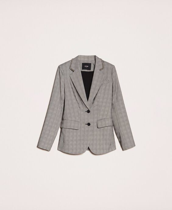 Blazer mit Prince-of-Wales-Muster