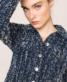 Джинсовая куртка с букле Синий Деним женщина 201MP234A-04
