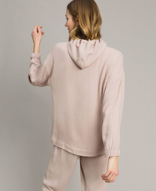 Crêpe sweatshirt with maxi pocket Delicate Pink Woman 191LL23AA-03