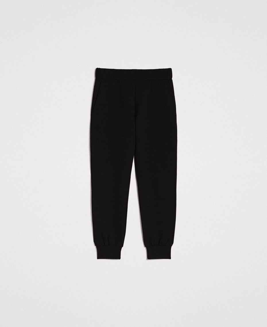 Pantalon de jogging Noir Femme 191LB22PP-0S