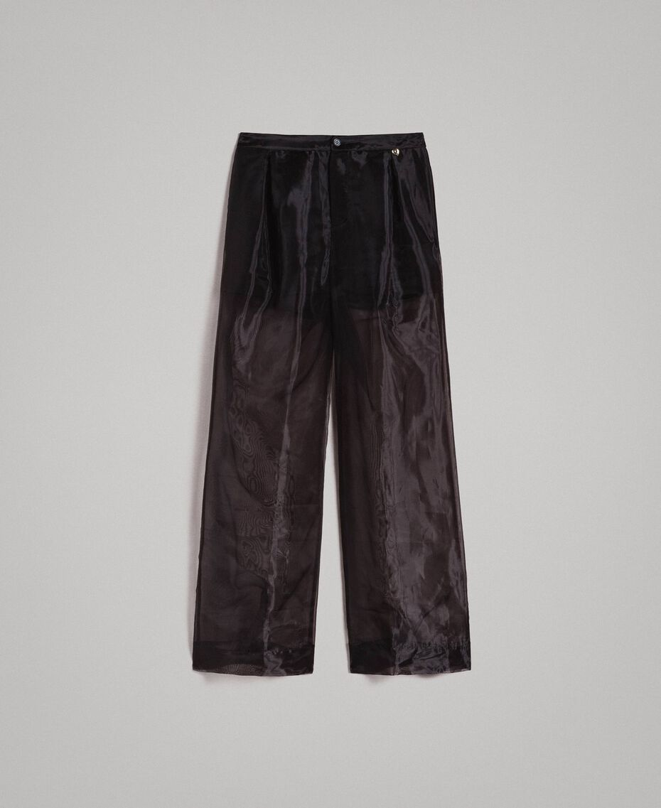 Organza palazzo trousers Black Woman 191MT2132-0S