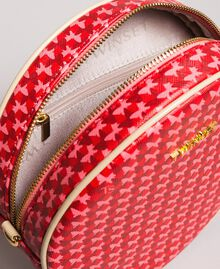 "Butterfly print shoulder bag ""Ruby"" Red Butterflies Print Woman 191TA7175-04"