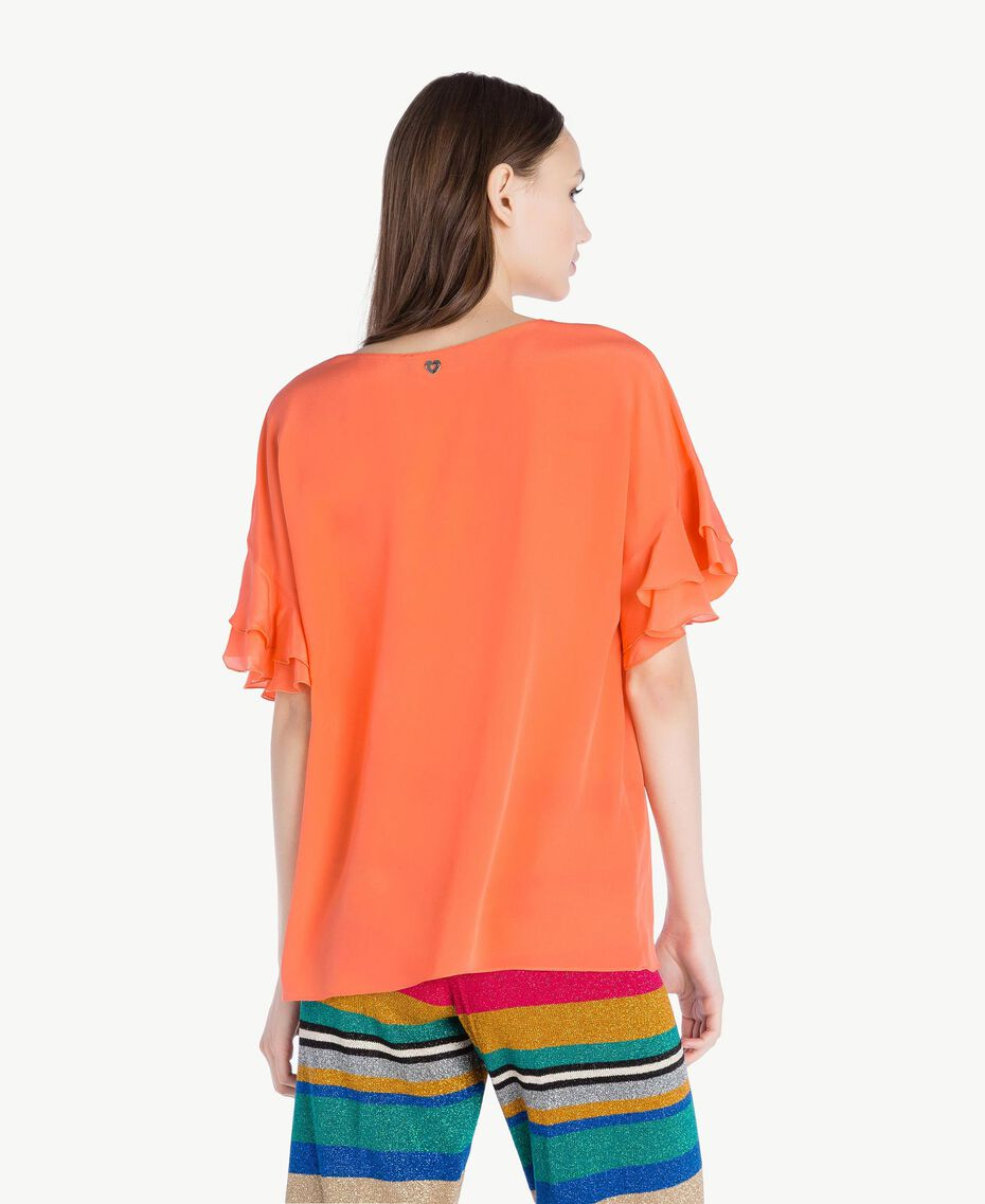 Blusa de seda Naranja Mujer TS827B-03
