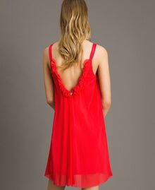 "Tulle dress with shoulder straps ""Framboise"" Red Woman 191LM2FCC-03"