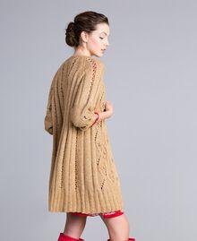 Maxi cardigan effetto mélange Camel Donna PA8372-02