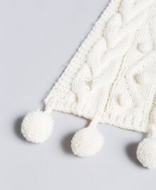 Hood-style scarf with pompom Off White Child GA8FA2-02