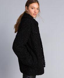 Куртка-кабан из искусственной кожи ягненка Черный женщина JA82KG-02