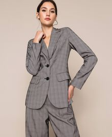 Glen plaid blazer Multicolour Glen Plaid Woman 201MP2060-02