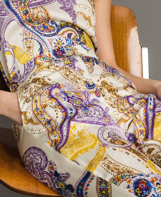 "Paisley print palazzo trousers ""Milkyway"" Beige / Paisley Print Woman 191LM2SAA-04"