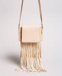"Сумка Bea Bag через плечо из кожи с бахромой ""Marzipan"" Бежевый женщина 191TO8231-03"