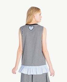 Patchwork top Multicolour Gingham / Pin Stripes Woman JS82E1-03