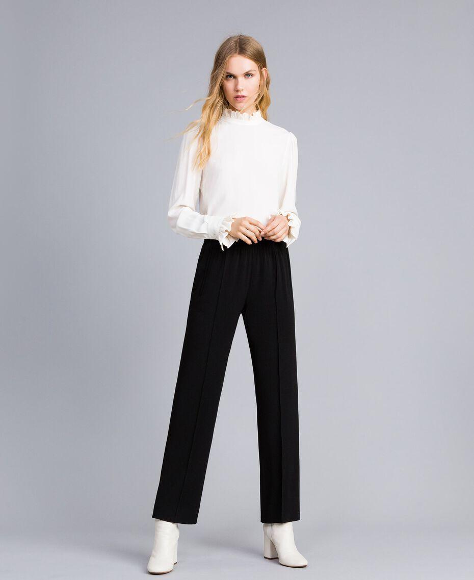 Envers satin palazzo trousers Black Woman TA824A-05