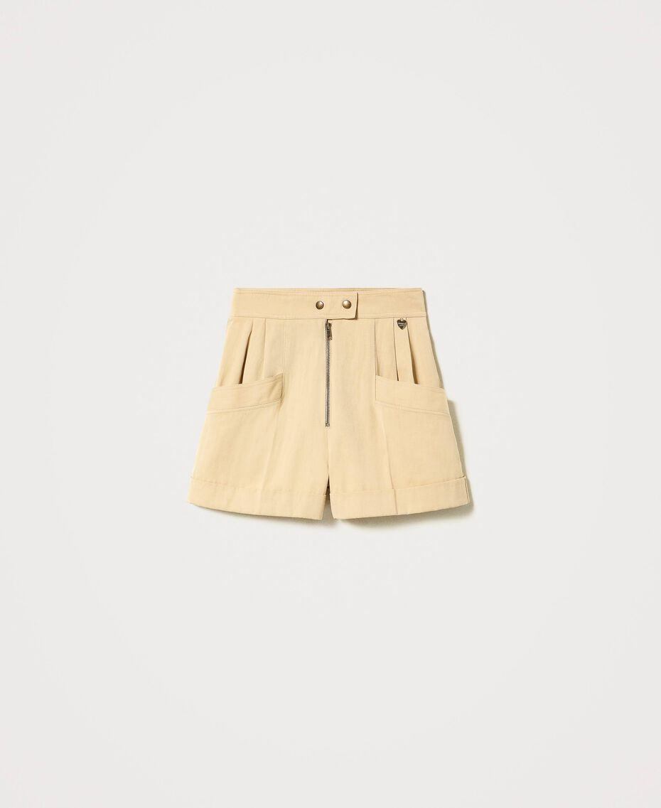 "High-Waist-Shorts ""Cuban Sand""-Rosa Frau 211TT2073-0S"