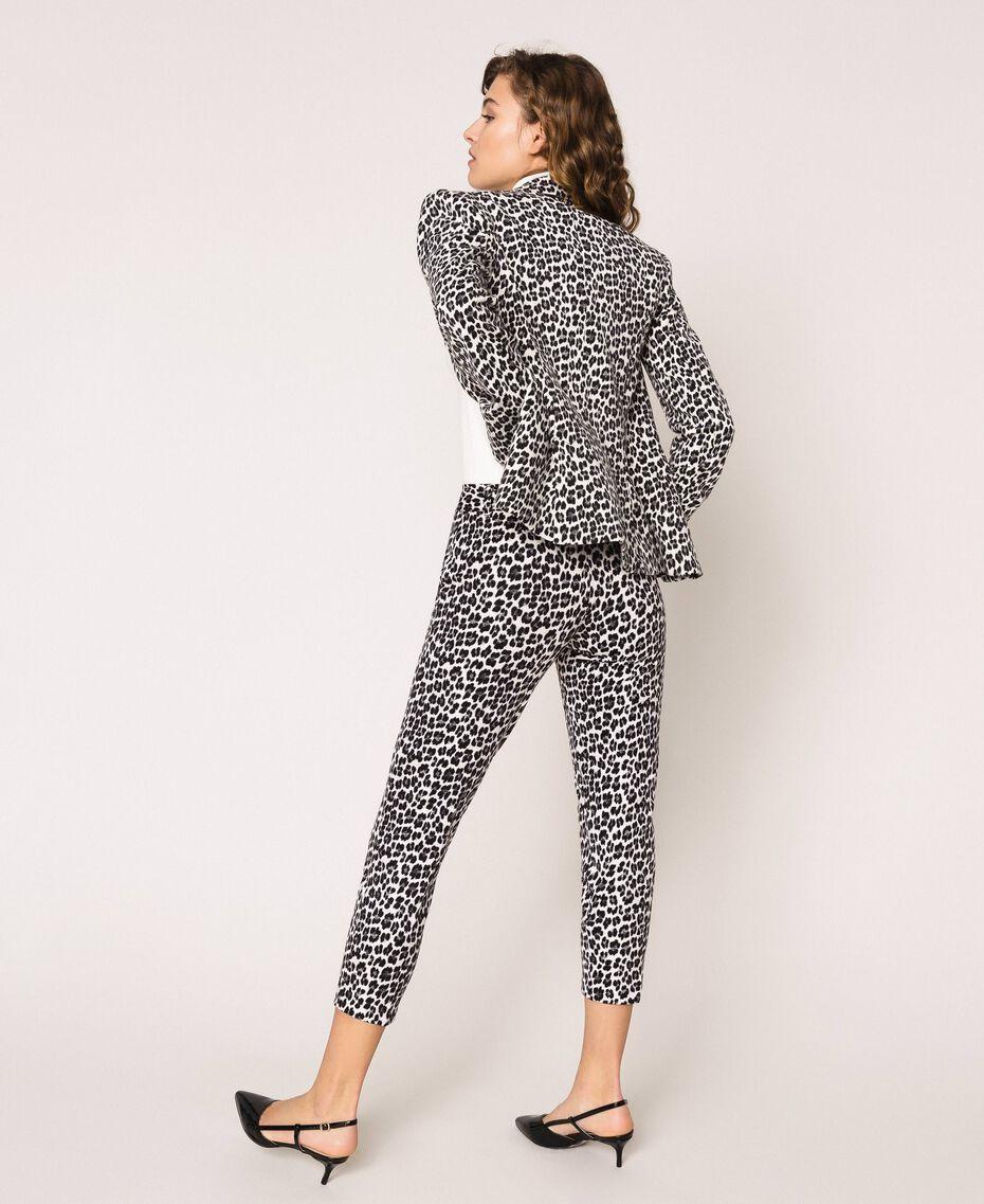 Animal print cigarette trousers Lily Animal Print / Black Woman 201MP2452-03