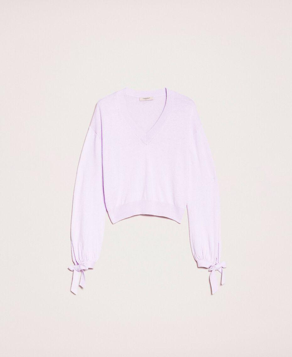"Cashmere blend boxy jumper ""Ballerina"" Purple Woman 201TP3011-0S"