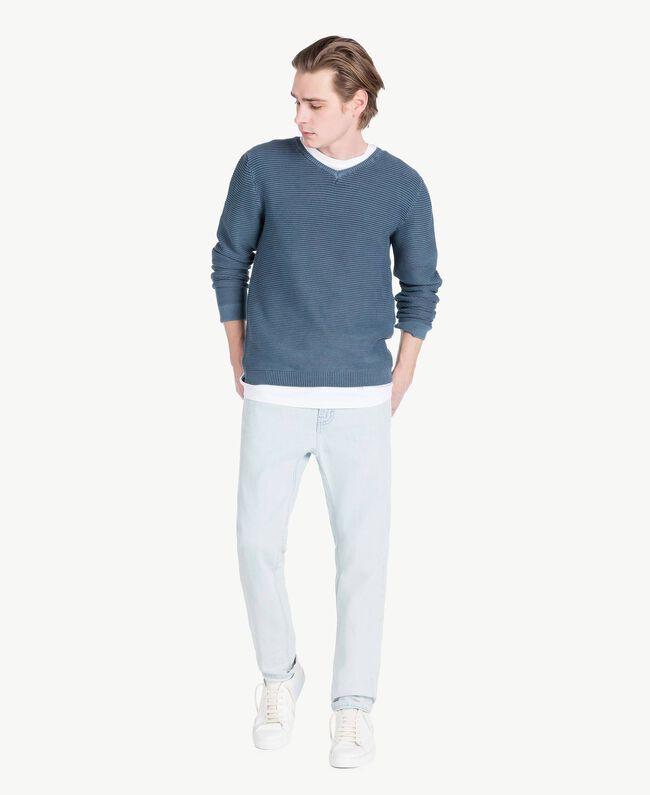 Five-pocket jeans Denim Blue Man US82BP-05