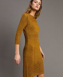 "Openwork lurex dress ""Golden Oak"" Gold Lurex Woman 191TT3111-02"
