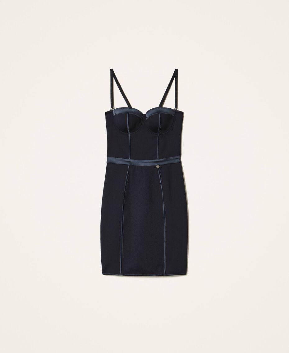 Scuba bustier dress Black Woman 202LL2MBB-0S